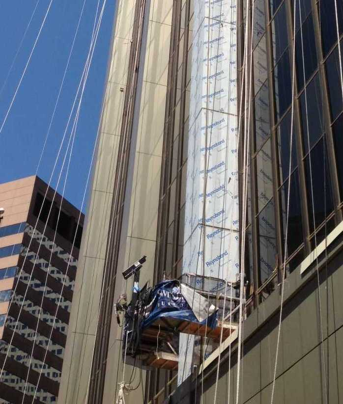 Spider Provides Expert Suspended Scaffolding Solution