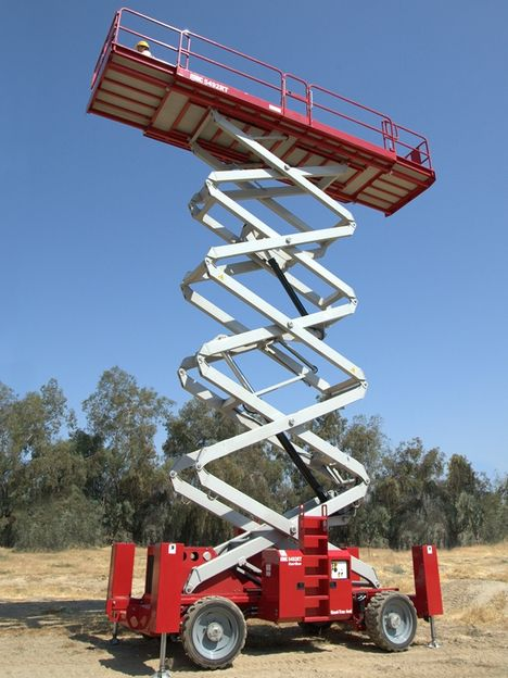 60ft scissor lift from mec the wire