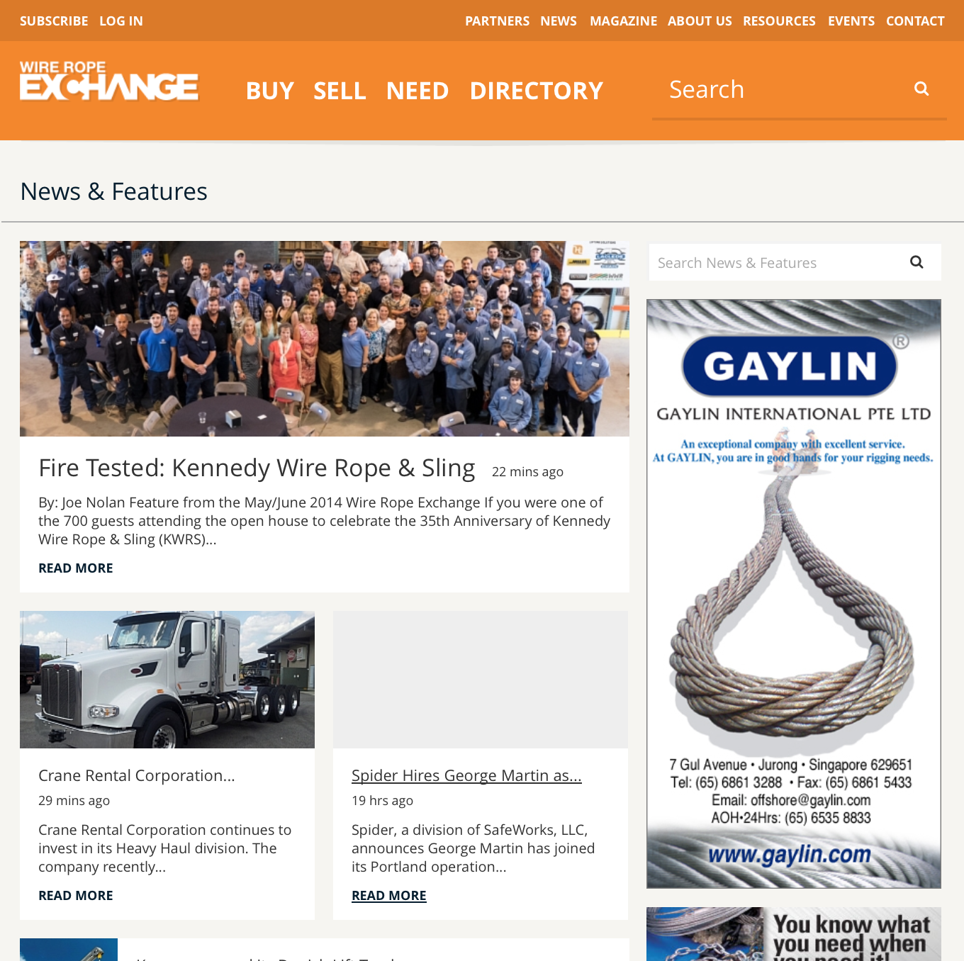 THE WIRE | THE ONLINE EXCHANGE FOR THE WIRE ROPE EXCHANGE.